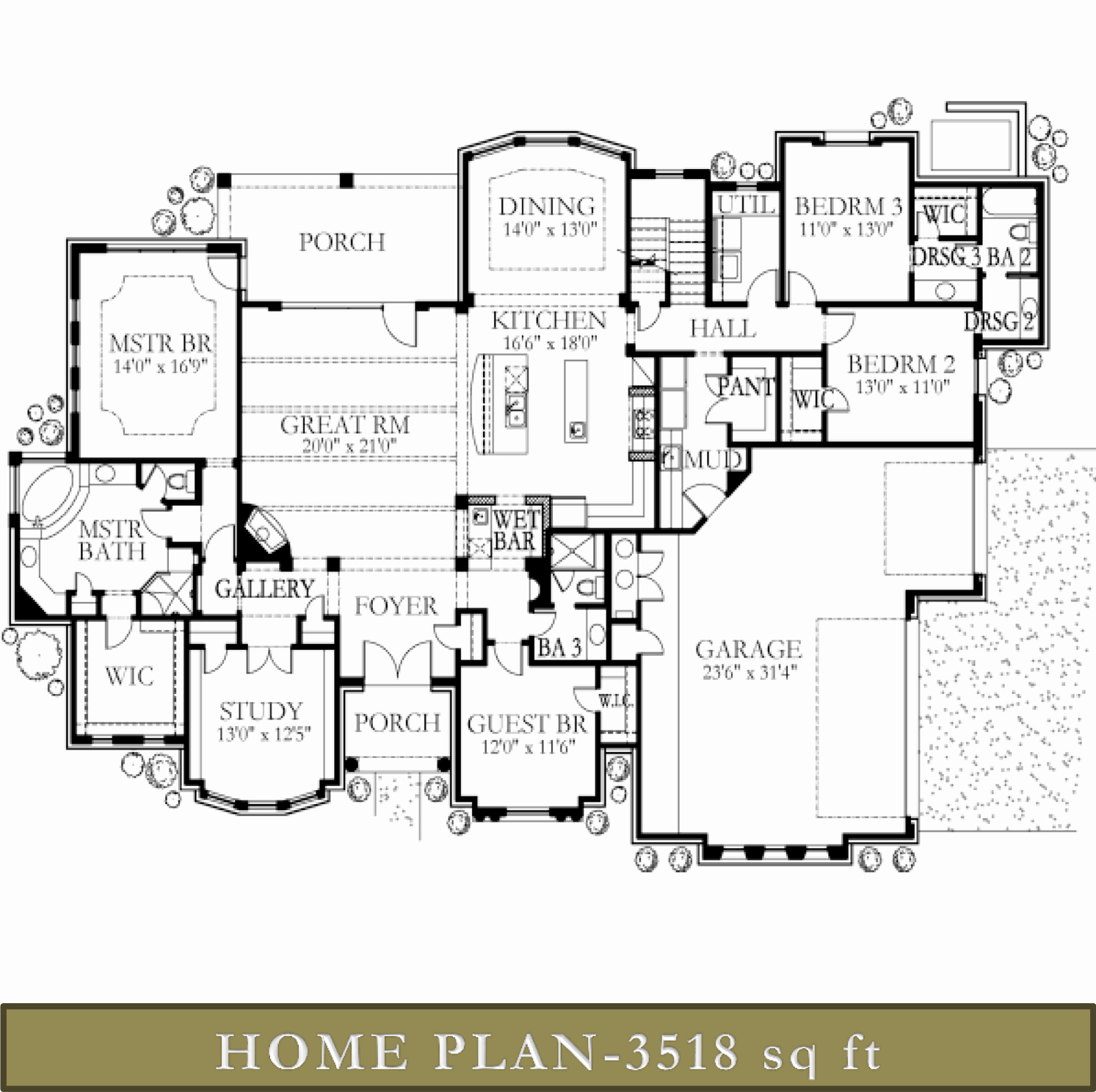 3500 4000 sq ft homes glazier homes for Floor plans for 4000 sq ft house