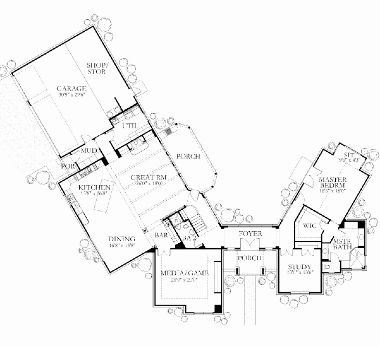 Floor plans custom home builders glazier homes 4500 sq ft house plans
